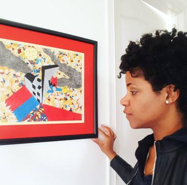 Melissa Morgan Whiz at her gallery